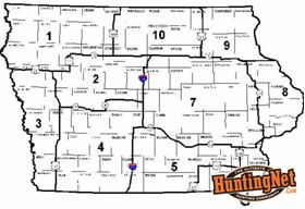Iowa Non-resident Deer Zones Map